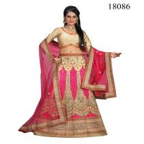 BEIGE COLORED NET LEHENGA