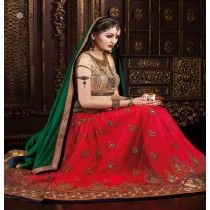 HI-FASHION EMBROIDERED MULTICOLOUR LEHENGA CHOLI