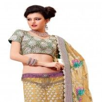 LIGHT PURPLE COLORED NET EMBROIDERED LEHENGA CHOLI