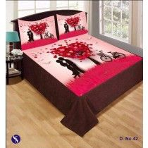 PRINTED BEDSHEET WITH 2 PILLOW COVERS