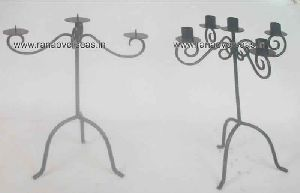 IRON METAL CANDLE STANDS