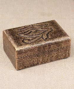 Exclusive Hand Carved Wooden Jewellery and Keepsake Box