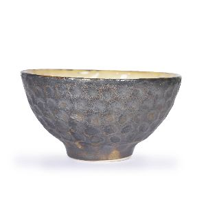 Hammered White Snack Bowls
