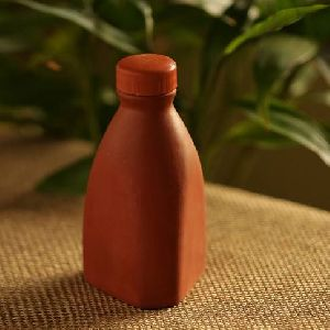 Handcrafted Earthen Clay Water Bottle
