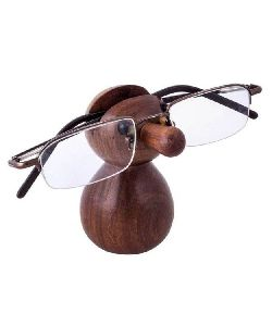 Wooden Face Eyeglass Holder Spectacles Stand