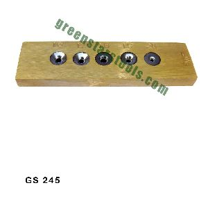 BRASS DRAWPLATE WITH TUNGSTEN HOLES