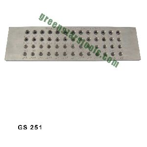 STEEL DRAWPLATE WITH TUNGSTEN HOLES