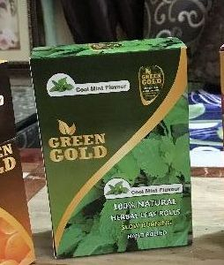 Green Gold Cool Mint Flavoured Natural Leaf Rolls