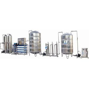 stainless steel packaged drinking water plant