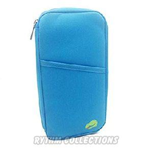 Multipocket Passport Organiser Wallet - Blue
