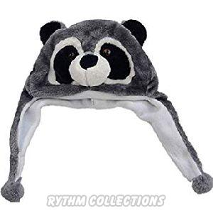 Pandaa Face Shaped Warm Stuffed Child Winter Cap
