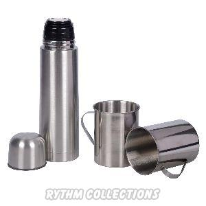 Vacuum Flask With 2 Steel Mugs