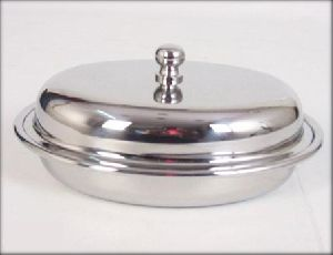 Stainless Steel Oval Entree Dish