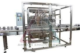 4 Head Automatic Linear Piston Filling Machine