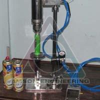 Pneumatic Deodorant Bottle Crimping Machine