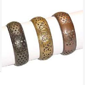 Etched Metal Bangles 01