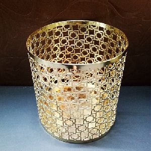 Gold Plated Metal Pen Stand