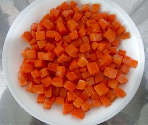Frozen Carrot Dices