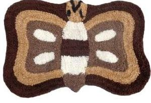 Butterfly Shaped Bath Mat