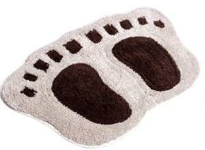 Foot Shaped Bath Mat