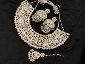 Polki Choker Necklace Set 02