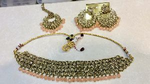 Polki Choker Necklace Set 04