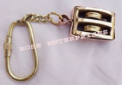Brass Nautical Pulley Key Chain