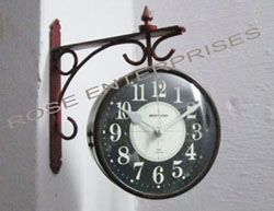 Double Sided Railway Platform Wall Clock