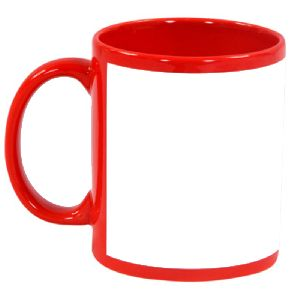 Sublimation Red Patch Mug