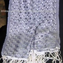 Textured Pure silk pashmina woven scarf