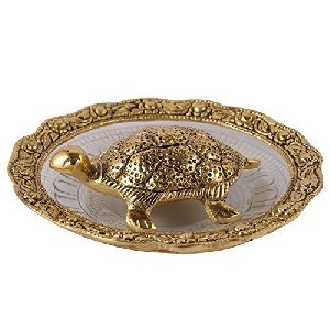 Brass Tortoise In Plate