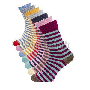 Ladies Striped Socks 05