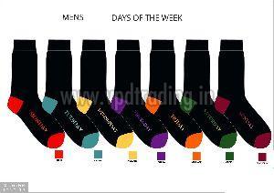 Mens Weekday Novelty Socks 01