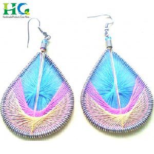 Handmade Fashion Embroider Girls Earrings