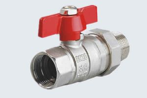 ALUMINUM T-HANLDE BRASS BALL VALVES WITH TAIL