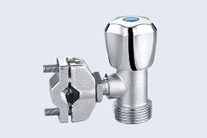 CLAMPING BRASS ANGLE VALVE