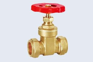 COMPRESSION BRASS GATE VALVE