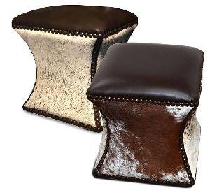 Leather Poufs 12