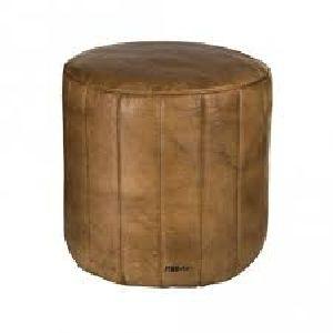 Leather Poufs 13