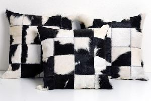 Patchwork Leather Cushion Covers 11