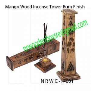 Mango Wood Incense Towers
