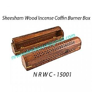 NRWC-15001 Sheesham Wood Incense Coffin Burner Box