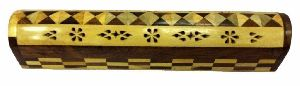 NRWC-15005 Sheesham Wood Incense Coffin Burner Box
