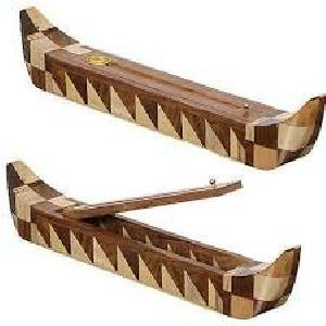 NRWC-15009 Sheesham Wood Incense Coffin Burner Box
