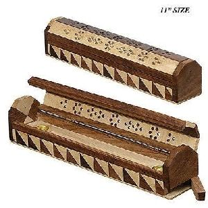 NRWC-15010 Sheesham Wood Incense Coffin Burner Box