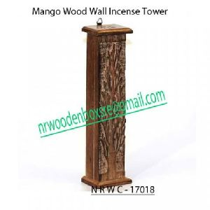 NRWC-17018 Mango Wood Wall Incense Tower