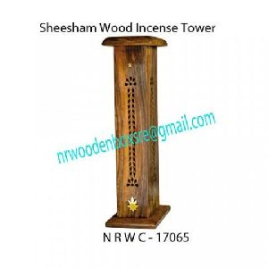 Sheesham Wood Incense Tower