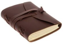 leather handmade paper notebook