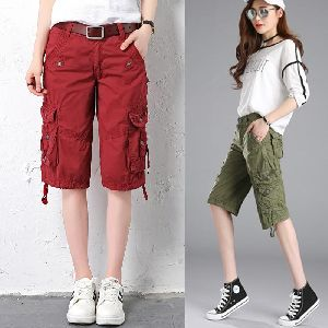 Women Cargo Bermuda Shorts