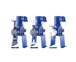 Compact diaphragm metering pumps